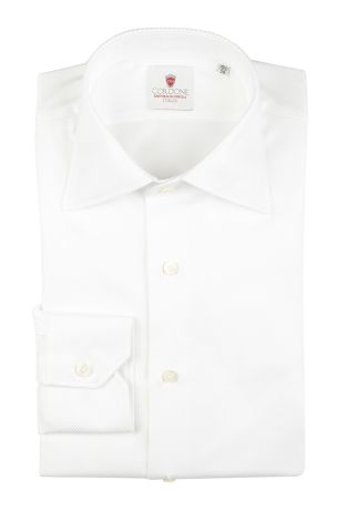 Cordone1956  - Classic Shirt Mod. Cambridge White   - Made by: Machine   - Type: business  - Made In Italy