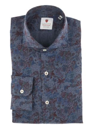 Cordone1956  - Limited Edition Shirt   Mod. Linen Denim 3  - Made by: Machine    - Type: casual   - Made In Italy