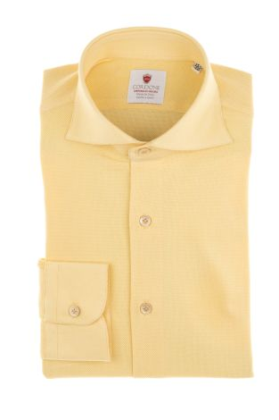Cordone1956  - Shirt Limited Edition  Mod. Giro Inglese Yellow  - Made by: Machine    - Type: casual   - Made In Italy