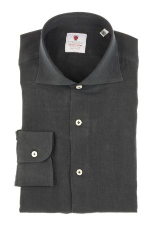 Cordone1956  - Shirt Linen  Mod. Linen Black   - Made by: Machine    - Type: casual   - Made In Italy