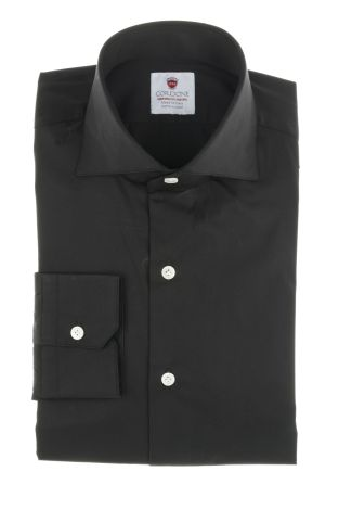 Cordone1956  - Classic Shirt Mod. Black Comfort   - Made by: Machine   - Type: business  - Made In Italy