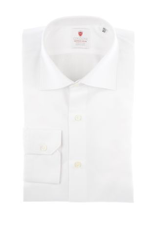 Cordone1956  - By-Hand Shirt   Mod. Spina White   - Made by: Handmade  - Type: business   - Made In Italy