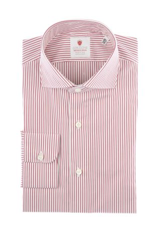 Cordone1956  - By-Hand Shirt   Mod. Red Stripes   - Made by: Handmade  - Type: business   - Made In Italy