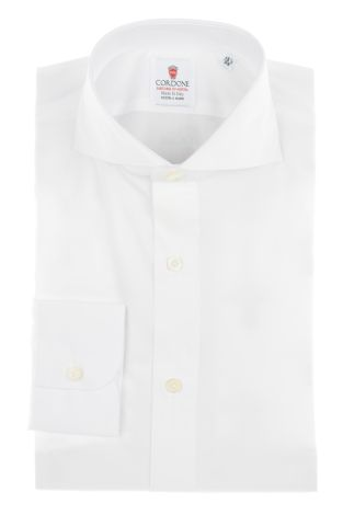 Cordone1956  - By-Hand Shirt   Mod. Zephir Supreme White   - Made by: Handmade  - Type: business   - Made In Italy
