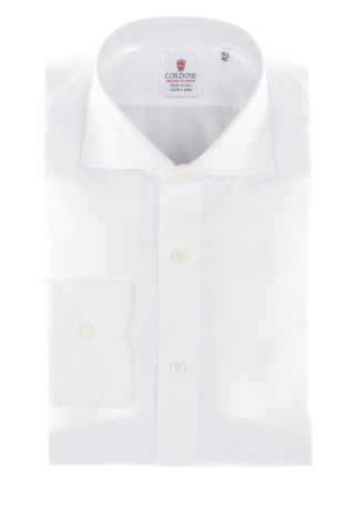 Cordone1956  - By-Hand Shirt   Mod. White Cotton Oxford   - Made by: Handmade  - Type: business  - Made In Italy