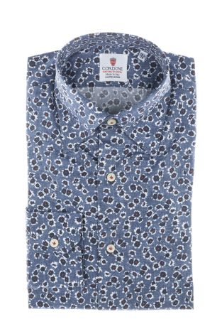 Cordone1956  - Shirt Limited Edition  Mod. Blue Printed Shirt   - Made by: Machine    - Type: casual   - Made In Italy