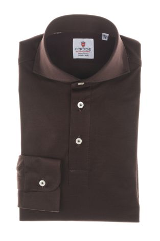 Cordone1956  - Shirt Polo Mod. Polo Brown Shirt By-Hand   - Made by: Handmade  - Type: casual   - Made In Italy