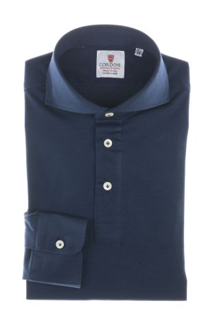 Cordone1956  - Shirt Polo Mod. Polo Blue Shirt By-Hand   - Made by: Handmade  - Type: casual   - Made In Italy