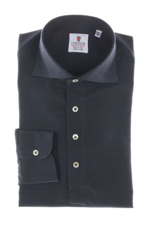 Cordone1956  - Shirt Polo Mod. Bluee Navy  Cashmere Polo Shirt   - Made by: Handmade  - Type: business   - Made In Italy