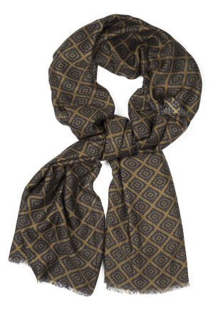 Cordone1956 - Scarf Mod. Scarves 10 - Fabric wool  - Color green