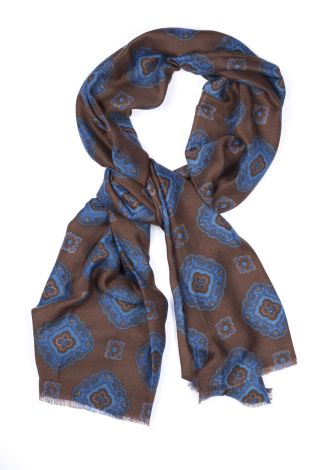 Cordone1956 - Scarf Mod. Scarves 17 - Fabric wool  - Color moro