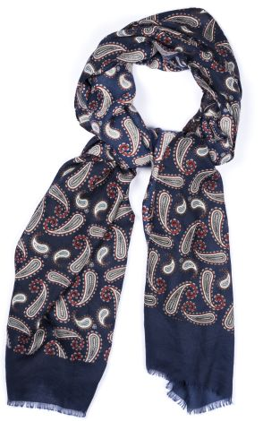 Cordone1956 - Scarf Mod. Scarves 19 - Fabric wool  - Color blue/red
