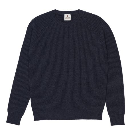 Cordone1956  -  Sweatshirt Crew-Neck Bluee  - Fabric Lana Cashmere   - Color Bluee  -