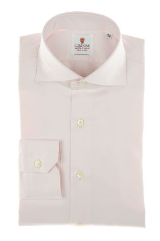 Cordone1956 - Shirt Classic Mod. Twill Pink Modern  Classic Shirts Pink - Made by Machine - Type Business - Made In Italy