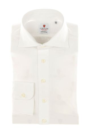 Cordone1956 - Tailored Shirt Mod. Shirt White Jersey - Made by Machine - Made In Italy