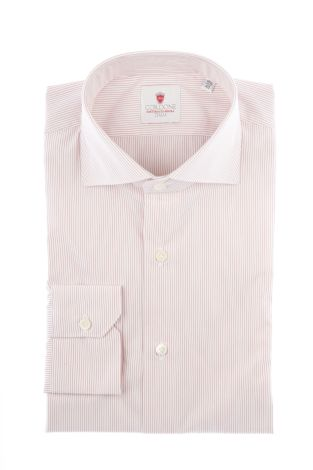 Cordone1956  - Classic Shirt Mod. Venice Red   - Made by: Machine   - Type: business  - Made In Italy