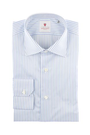 Cordone1956  - Classic Shirt Mod. Super Stripes White   - Made by: Machine   - Type: casual   - Made In Italy