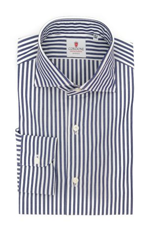 Cordone1956  - Classic Shirt Mod. Sky Stripes Blue - Made by: Machine - Type: casual  - Made In Italy