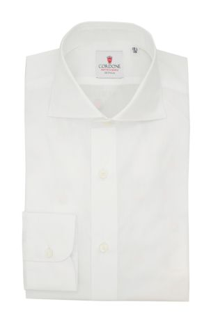Cordone1956  - Classic Shirt Mod.  Popeline DJA 200 White - Made by:  Hand - Type: Business - Made In Italy