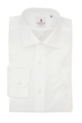 Cordone1956  - Classic Shirt Mod.  Pop DJA 200 White - Made by:  Hand - Type: Business - Made In Italy