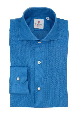 Cordone1956  - Classic Shirt Mod. Cellulare Azure  Shirt By-Hand - Made by: Hand - Type: Casual - Made In Italy