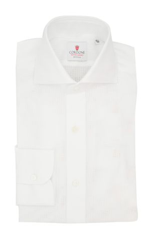 Cordone1956  - Classic Shirt Mod. Cellulare White Shirt By-Hand - Made by: Hand - Type: Casual - Made In Italy