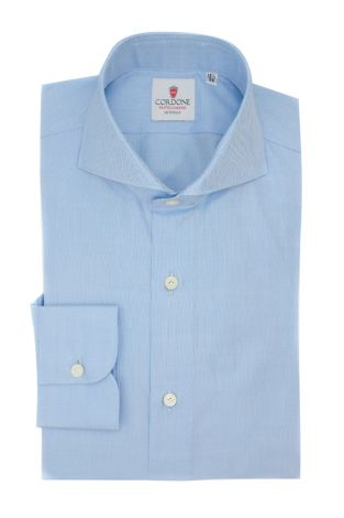 Cordone1956  - Classic Shirt Mod. Panama Blue Shirt By-Hand - Made by: Hand - Type: Business - Made In Italy