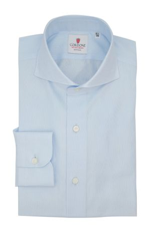 Cordone1956  - Classic Shirt Mod. Panama Azure Shirt By-Hand - Made by: Hand - Type: Business - Made In Italy