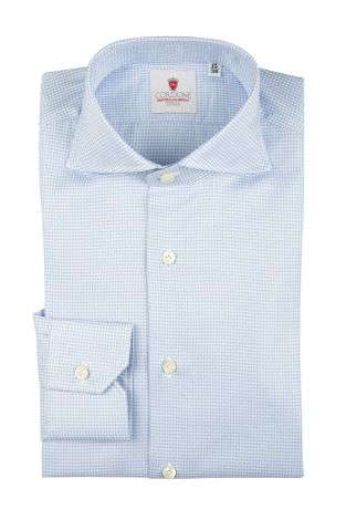 Cordone1956  - Classic Shirt Mod. Galles Azure   - Made by: Machine   - Type: casual   - Made In Italy