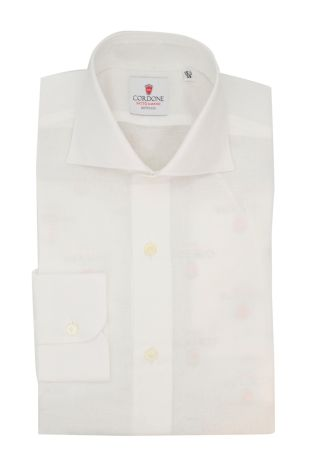 Cordone1956  - Classic Shirt Mod. Zevi White - Made by: Hand - Type: casual  - Made In Italy