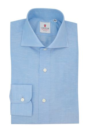 Cordone1956  - Classic Shirt Mod. Zevi Azure - Made by: Hand - Type: casual  - Made In Italy