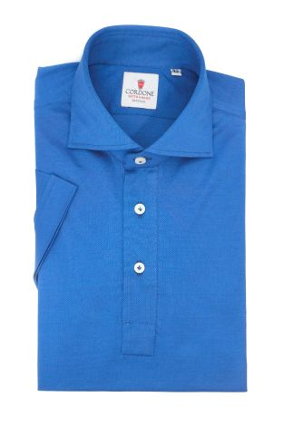 Cordone1956 - Mod. Shirt Polo Bluette Short Sleeve - Shirt By-Hand - Made In Italy