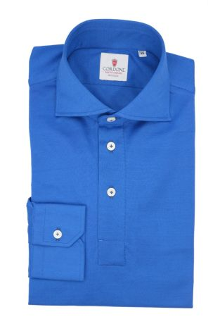 Cordone1956 - Mod. Shirt Polo Bluette Long Sleeve - Shirt By-Hand - Made In Italy