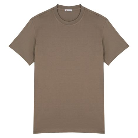Cordone1956  -Tailored T-shirt Mud - Made by:  Machine - Type: Casual - Made In Italy