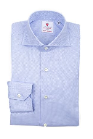 Cordone1956  - Classic Shirt Mod. Royal Azure   - Made by: Machine   - Type: business  - Made In Italy