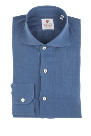 Cordone1956  - Shirt Linen  Mod. Linen Bluee   - Made by: Machine    - Type: casual   - Made In Italy