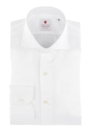 Cordone1956  - By-Hand Shirt   Mod. White Panama Easy Iron   - Made by: Handmade  - Type: business   - Made In Italy
