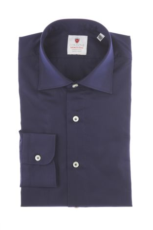 Cordone1956  - By-Hand Shirt   Mod. Oxford Blue Navy   - Made by: Handmade  - Type: business   - Made In Italy