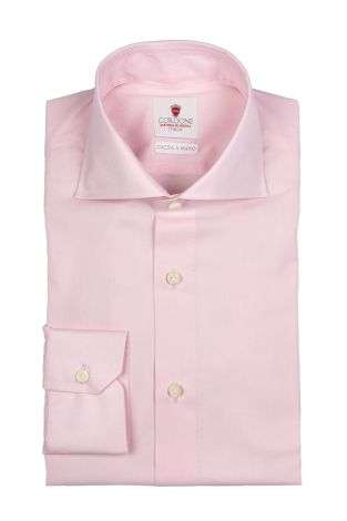 Cordone1956  - By-Hand Shirt   Mod. Zephir Supreme Pink   - Made by: Handmade  - Type: casual   - Made In Italy