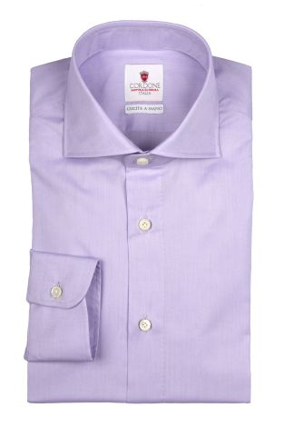 Cordone1956  - By-Hand Shirt   Mod. Zephir Supreme Lilac   - Made by: Handmade  - Type: casual   - Made In Italy