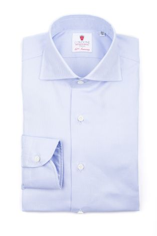 Cordone1956  - Classic Shirt Mod. Oxford Azure Cotton Shirt  - Made by: Machine   - Type: business  - Made In Italy