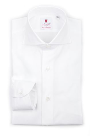 Cordone1956  - Classic Shirt Mod. Oxford White Cotton Shirt   - Made by: Machine   - Type: business  - Made In Italy