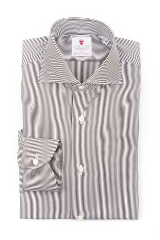 Cordone1956  - Classic Shirt Mod. King 315 Stripes   - Made by: Machine   - Type: business  - Made In Italy
