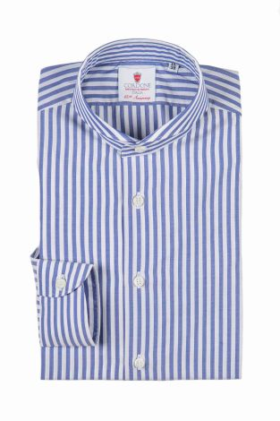 Cordone1956  - Classic Shirt Mod. Dandy Big Bluee   - Made by: Machine   - Type: business   - Made In Italy