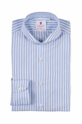 Cordone1956  - Classic Shirt Mod. Dandy Big Azure   - Made by: Machine   - Type: business   - Made In Italy