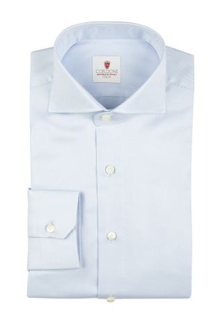 Cordone1956  - By-Hand Shirt   Mod. Royal Azure   - Made by: Handmade  - Type: business   - Made In Italy