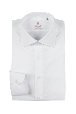 Cordone1956  - Classic Shirt Mod. First White   - Made by: Machine   - Type: business   - Made In Italy