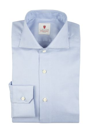 Cordone1956  - By-Hand Shirt   Mod. Oxford Azure   - Made by: Handmade  - Type: business   - Made In Italy