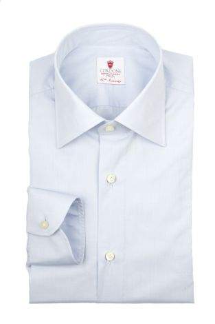 Cordone1956  - By-Hand Shirt   Mod. Pop Azure   - Made by: Handmade  - Type: business   - Made In Italy
