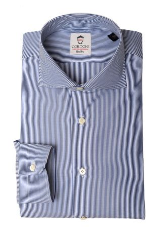 Cordone1956  - Classic Shirt Mod. King 34 Stripes   - Made by: Machine   - Type: business   - Made In Italy